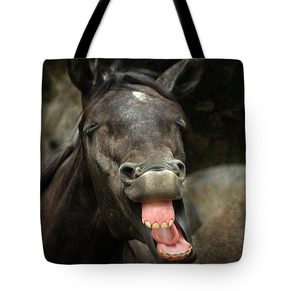 Yawn Tote Bag by Angel  Tarantella
