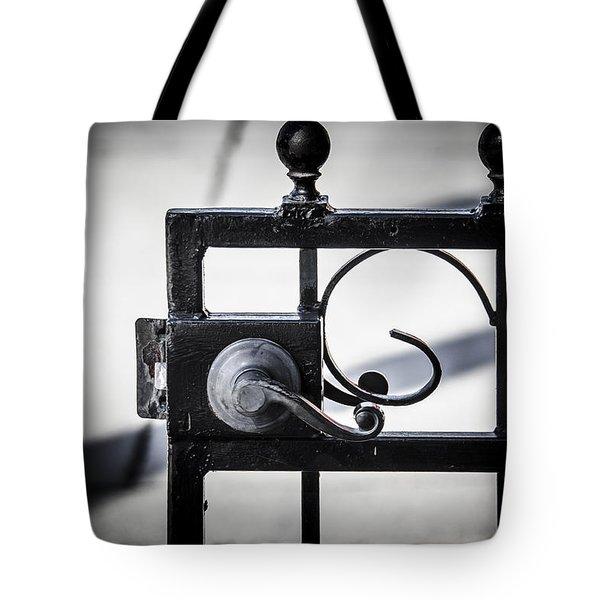 Ybor City Gate Tote Bag by Carolyn Marshall