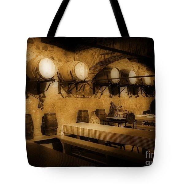 Ye Old Wine Cellar In Tuscany Tote Bag by John Malone