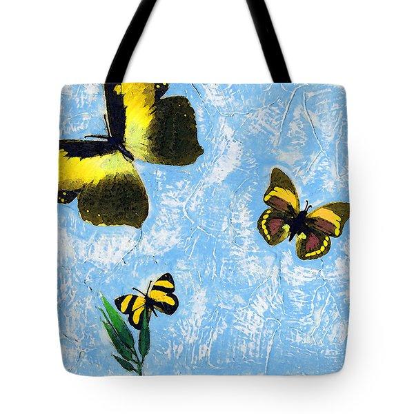 Yellow Butterflies - Spring Art By Sharon Cummings Tote Bag by Sharon Cummings
