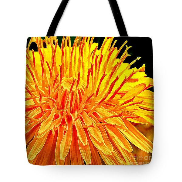Yellow Chrysanthemum Painting Tote Bag by Bob and Nadine Johnston