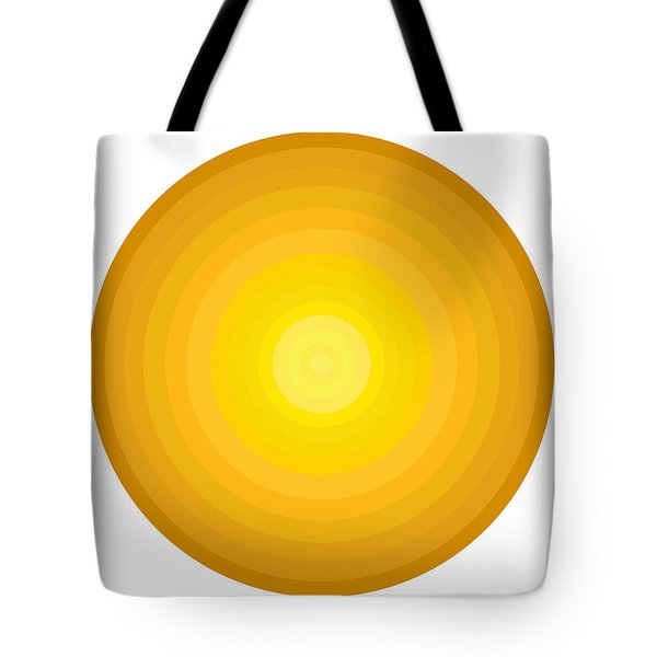 Yellow Circles Tote Bag by Frank Tschakert