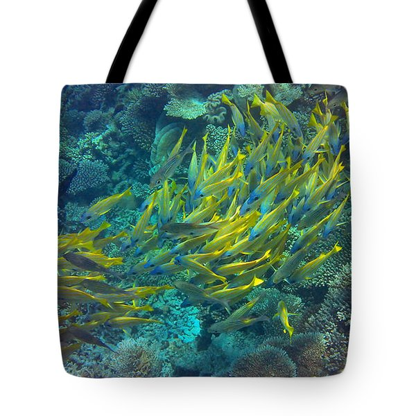 Yellow Tote Bag by Corinne Rhode