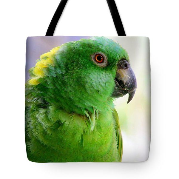Yellow Crowned Amazon Parrot No 1 Tote Bag by Mary Deal