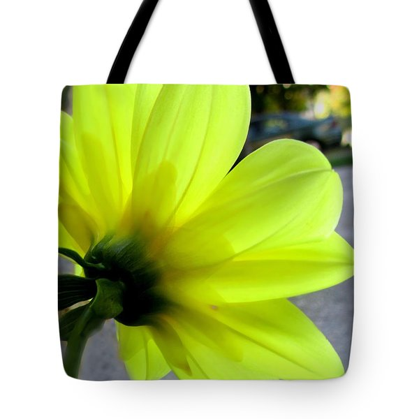 Yellow Dahlia Bloom Tote Bag by Danielle  Parent