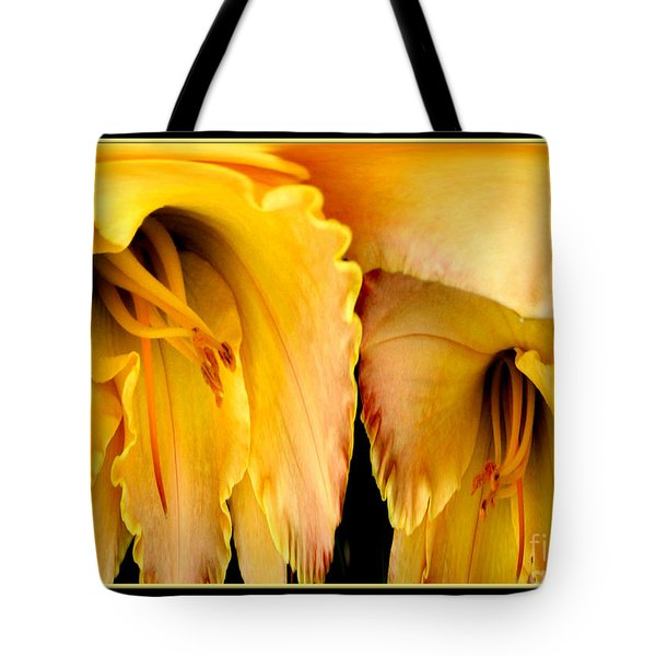 Yellow Daylily Abstract Tote Bag by Rose Santuci-Sofranko