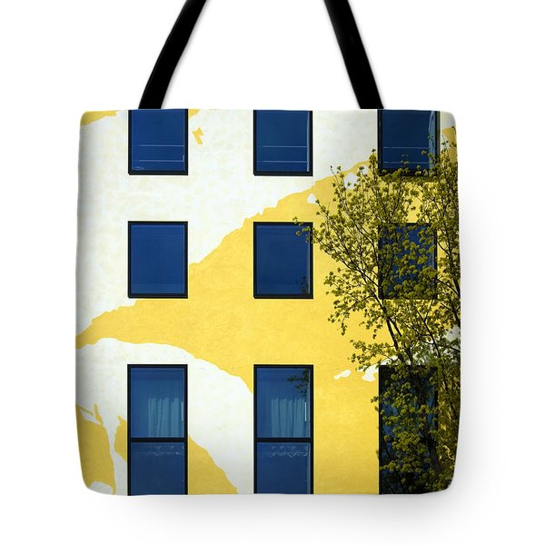 Yellow Facade In Berlin Tote Bag by RicardMN Photography