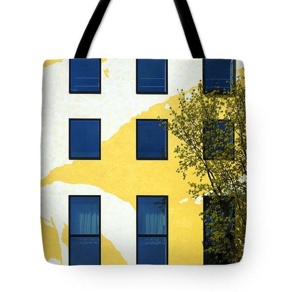 Yellow Facade In Berlin Tote Bag by RicardMN Photography