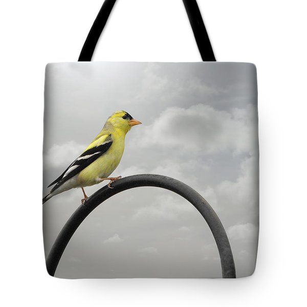 Yellow Finch a bright spot of color Tote Bag by Christine Till