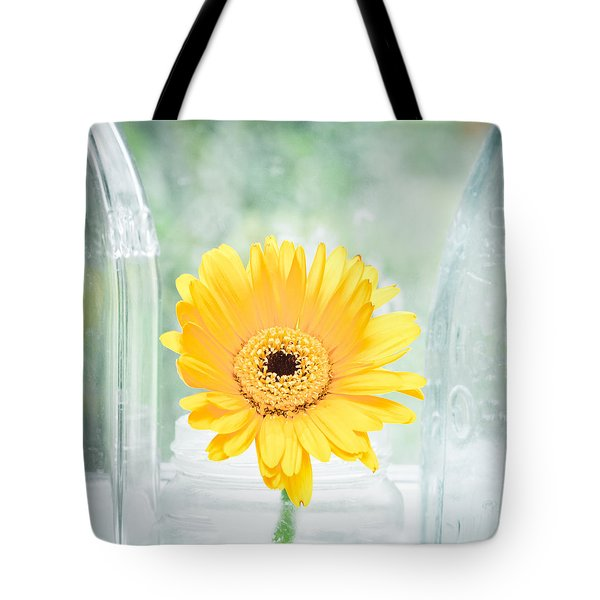 Yellow Flower Tote Bag by Tom Gowanlock