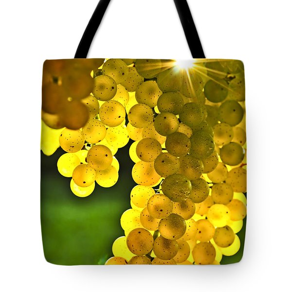 Yellow grapes Tote Bag by Elena Elisseeva