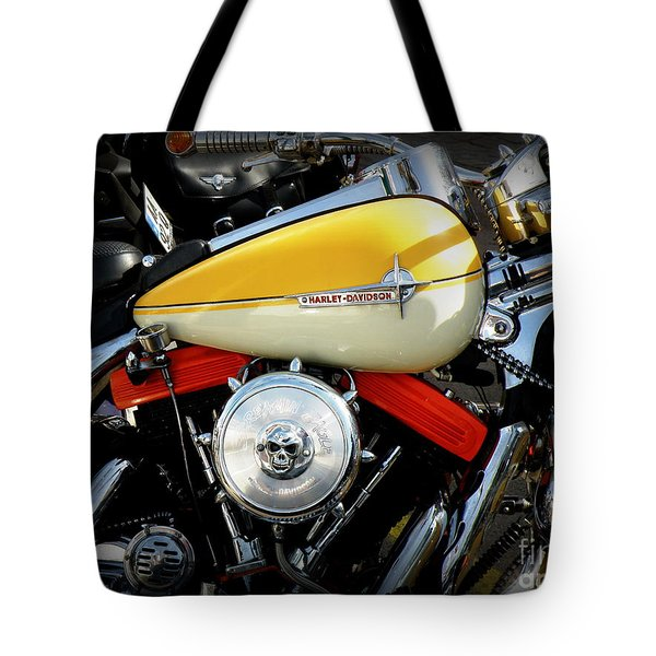 Yellow Harley Tote Bag by Lainie Wrightson