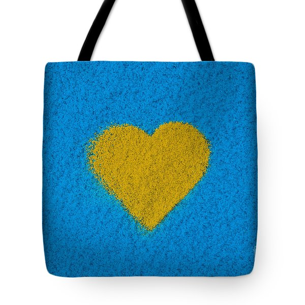 Yellow Heart Tote Bag by Tim Gainey