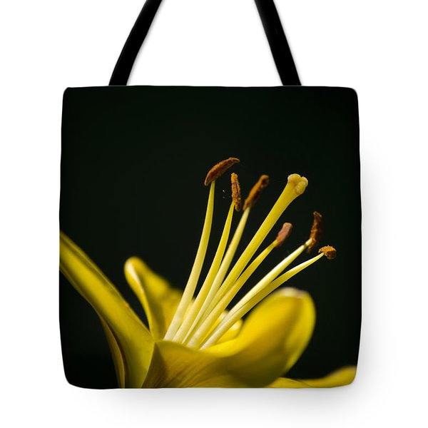 Yellow Lily Tote Bag by Christina Rollo