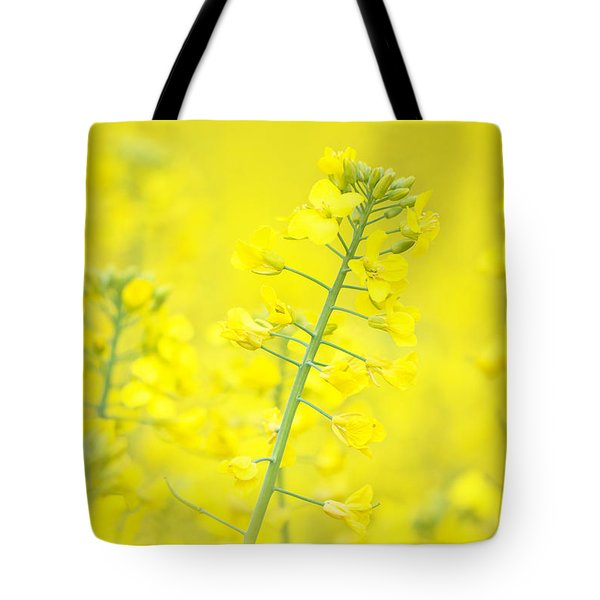 Yellow Makes Me Happy Tote Bag by Angela Doelling AD DESIGN Photo and PhotoArt