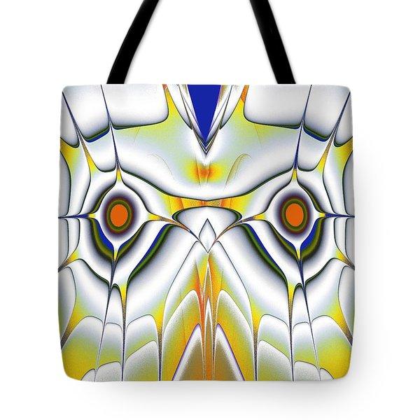 Yellow Owl Tote Bag by Anastasiya Malakhova
