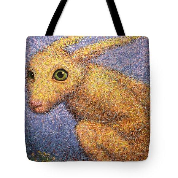 Yellow Rabbit Tote Bag by James W Johnson