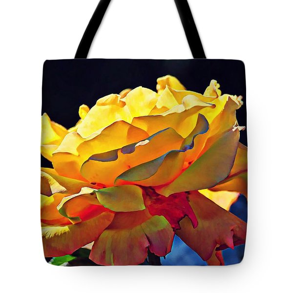 Yellow Rose Series - Crispy Tote Bag by Lilia D