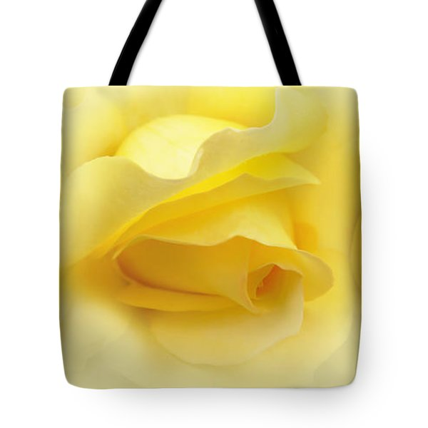 Yellow Roses Triptych Panel Tote Bag by Jennie Marie Schell