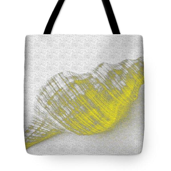 Yellow Seashell Tote Bag by Carol Lynch