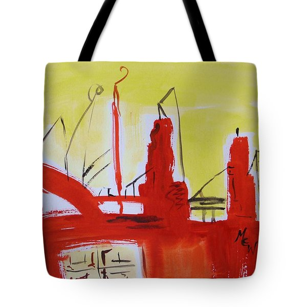 Yellow Sky Industry Tote Bag by Mary Carol Williams