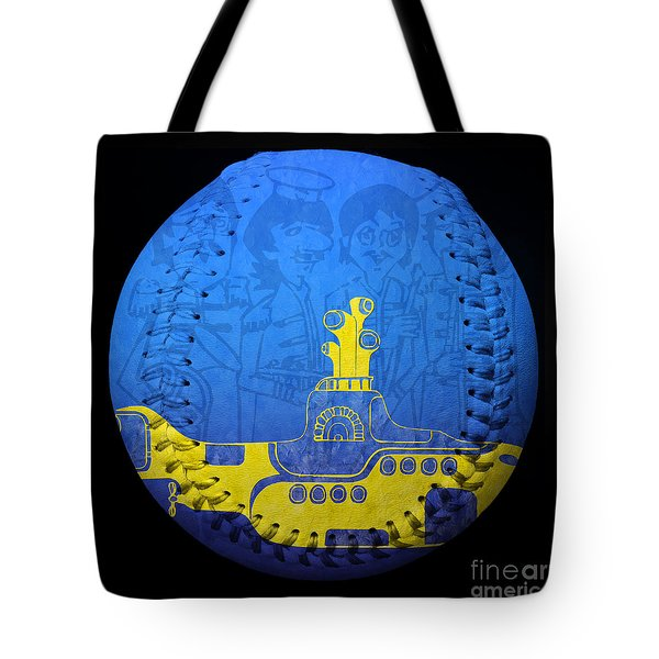 Yellow Submarine 2 Baseball Square Tote Bag by Andee Design