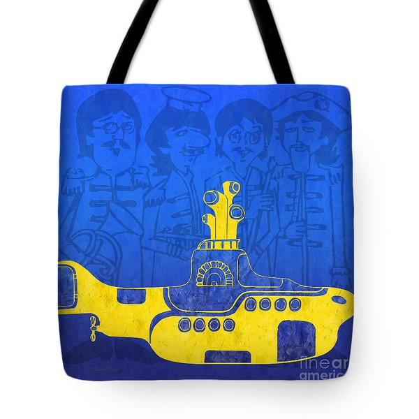 Yellow Submarine Tote Bag by Andee Design