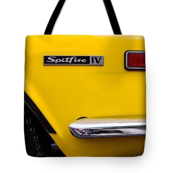 Yellow Triumph Spitfire Tote Bag by Jerry Fornarotto