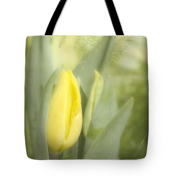 Yellow Tulip Bud Tote Bag by Kim Hojnacki
