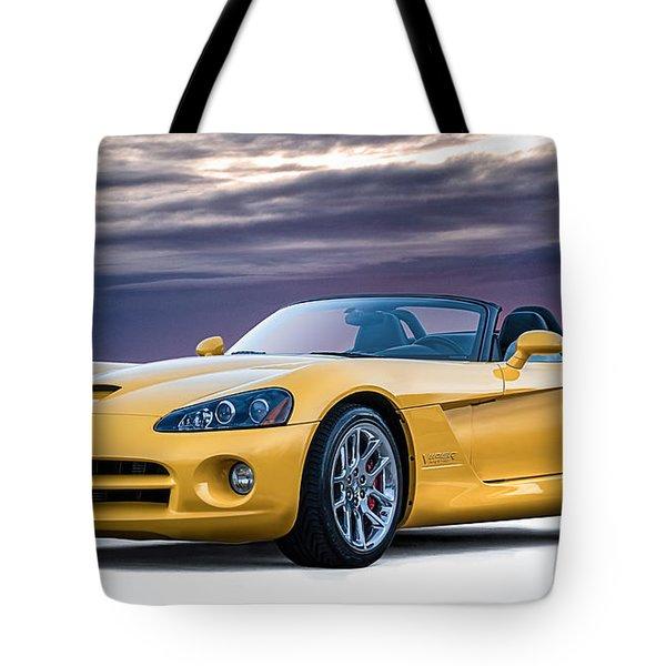 Yellow Viper Convertible Tote Bag by Douglas Pittman