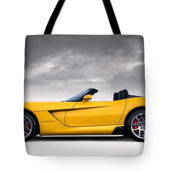 Yellow Viper Roadster Tote Bag by Douglas Pittman