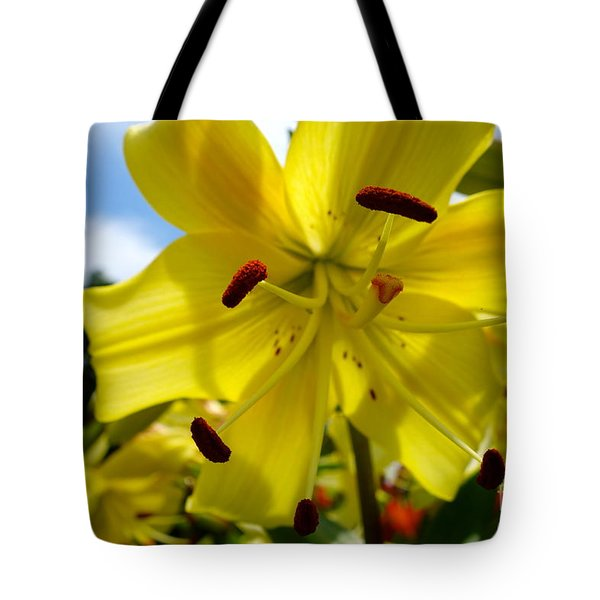 Yellow Whopper Lily 2 Tote Bag by Jacqueline Athmann