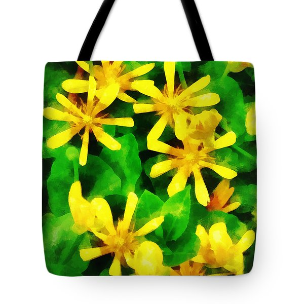Yellow Wildflowers Tote Bag by Susan Savad