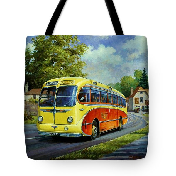 Yelloways Seagull Coach. Tote Bag by Mike  Jeffries