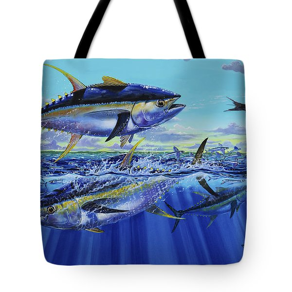 Yellowfin Bust Off0083 Tote Bag by Carey Chen