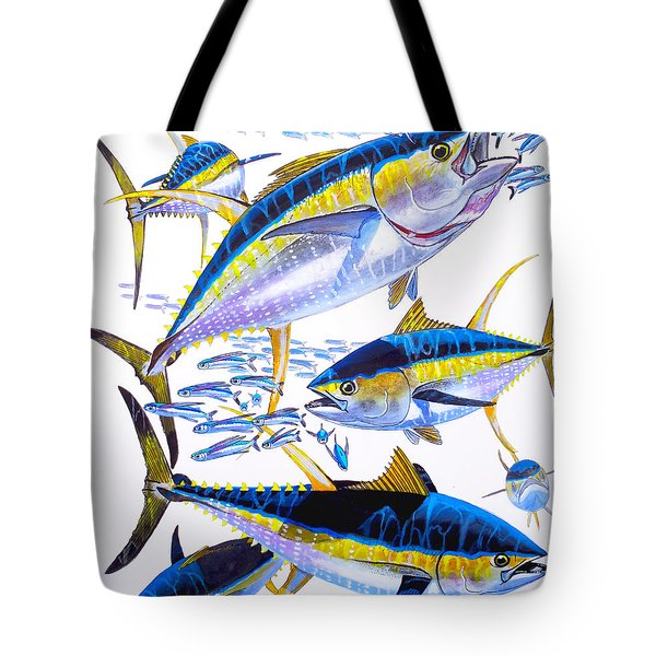 Yellowfin Run Tote Bag by Carey Chen