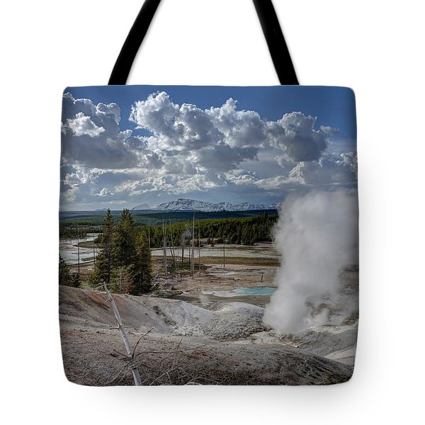 Tote Bag featuring the photograph Yellowstone's Norris Geyser Basin by Bill Gabbert