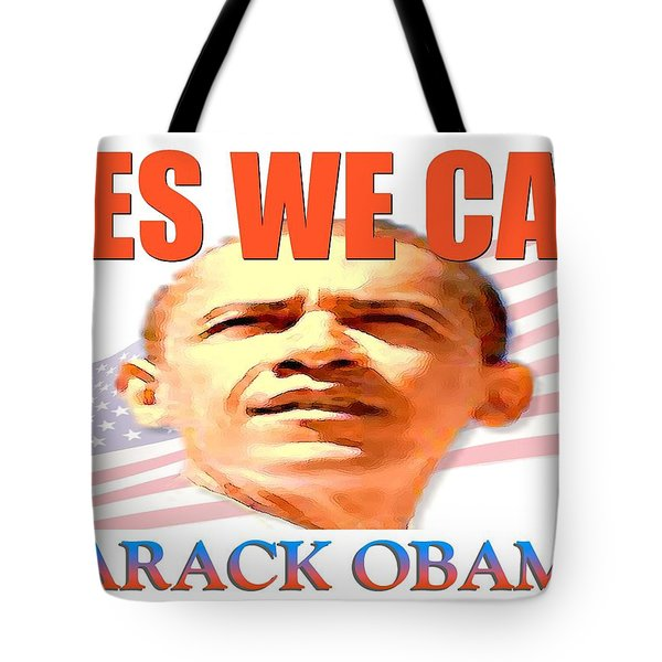Yes We Can - Barack Obama Poster Tote Bag by Peter Fine Art Gallery  - Paintings Photos Digital Art