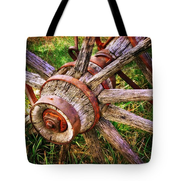 Yesterday's Wheel Tote Bag by Marty Koch
