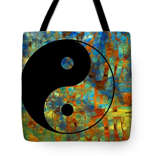 Yin Yang Abstract Tote Bag by Dan Sproul