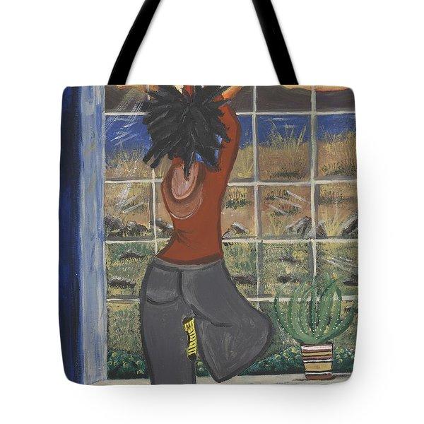 Yoga Tote Bag by Reba Baptist