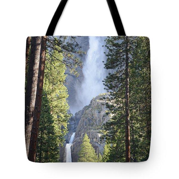 Yosemite Falls In Morning Splendor Tote Bag by Bruce Gourley