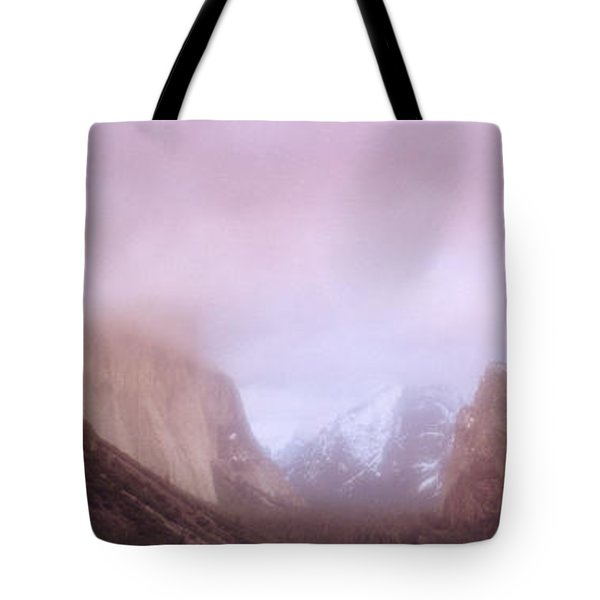 Yosemite Valley Ca Usa Tote Bag by Panoramic Images
