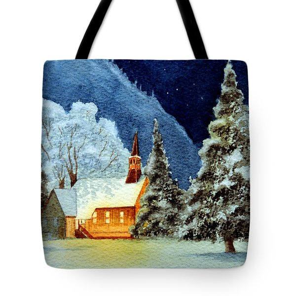 Yosemite Valley Chapel Tote Bag by Bill Holkham