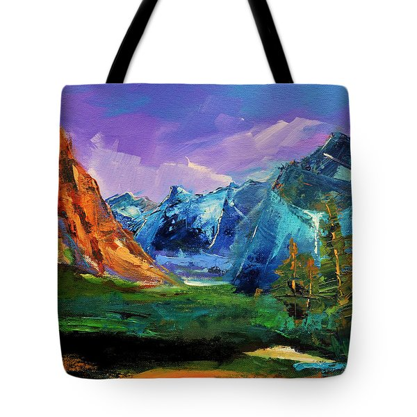 Yosemite Valley - Tunnel View Tote Bag by Elise Palmigiani