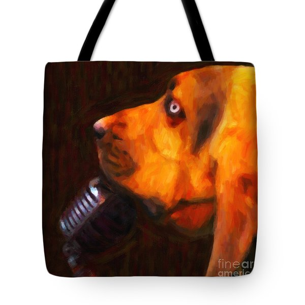 You Ain't Nothing But A Hound Dog - Dark - Painterly Tote Bag by Wingsdomain Art and Photography