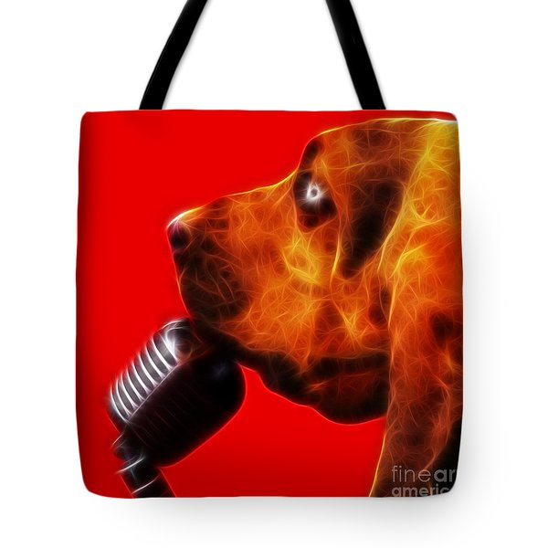 You Ain't Nothing But A Hound Dog - Red - Electric Tote Bag by Wingsdomain Art and Photography