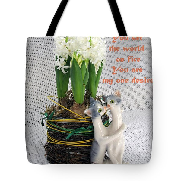 You Are My One Desire Tote Bag by Ausra Huntington nee Paulauskaite