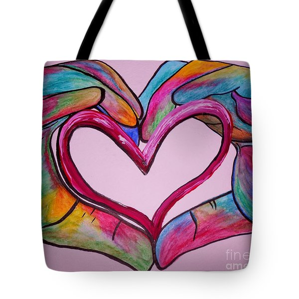 You Hold My Heart In Your Hands Tote Bag by Eloise Schneider