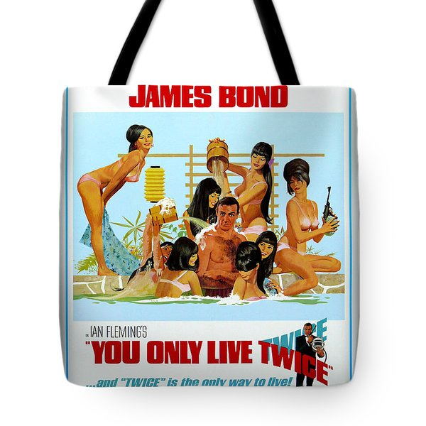 You Only Live Twice Tote Bag by Nomad Art And  Design